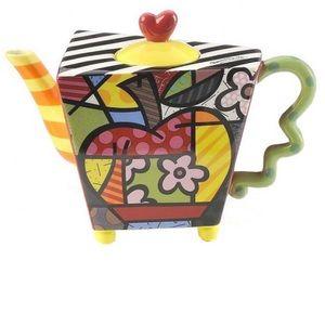 Authentic Romero Britto Apple Teapot BUNDLE & SAVE